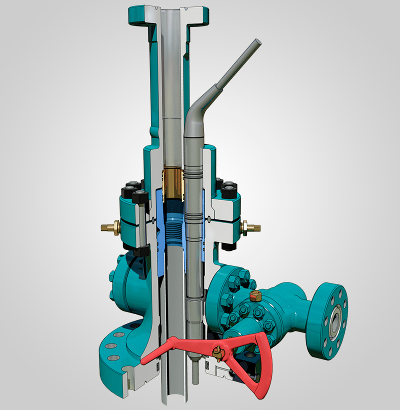 Wellhead for Electrical Sumersible Pump - Moto Mecánica Argentina